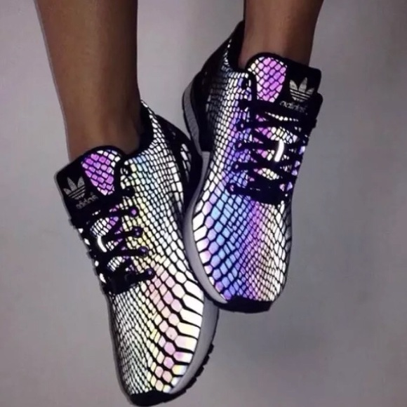 pretty nice 713fc dfe54 Adidas ZX flux reflective snake (NEW) Rare! NWT